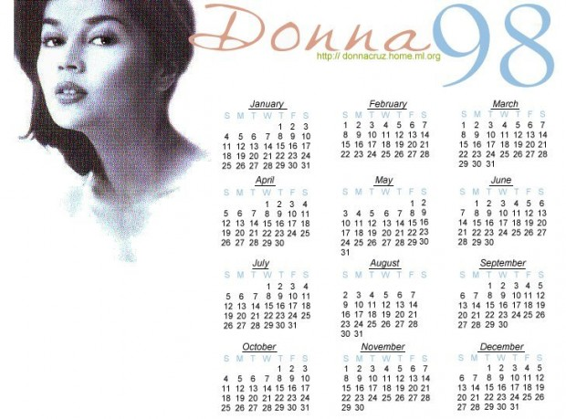 donnacruz-calendar1-1998