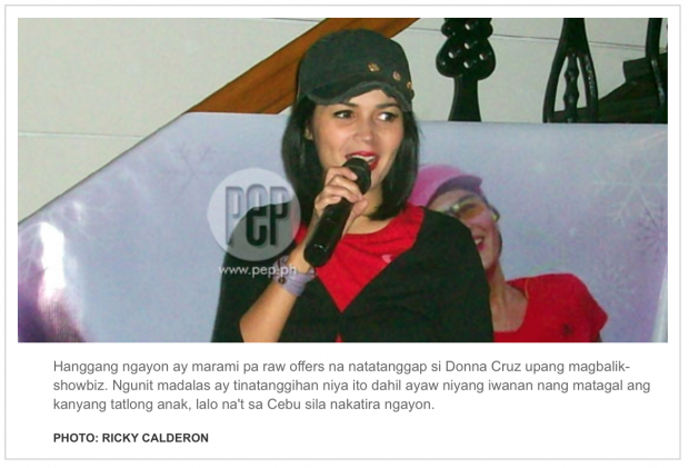 Donna Cruz's interview with PEP.ph