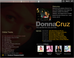 DonnaCruz.com website 2004