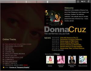 DonnaCruz.com website 2004
