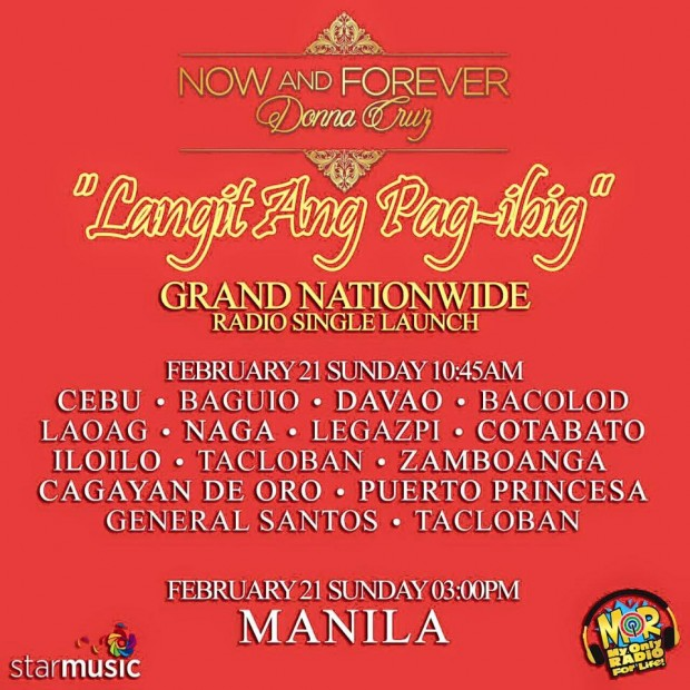donnacruz now and forever launch SCHEDULE